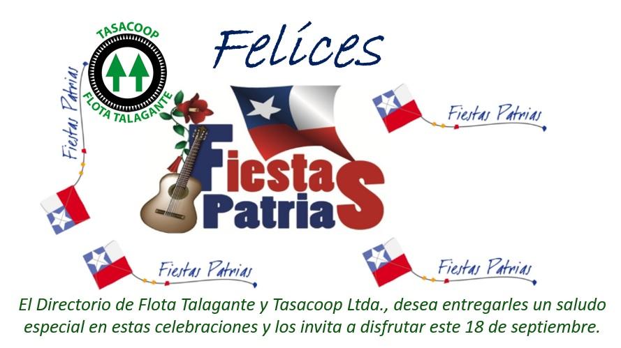 Flota Talagante les desea muy felices Fiestas Patrias