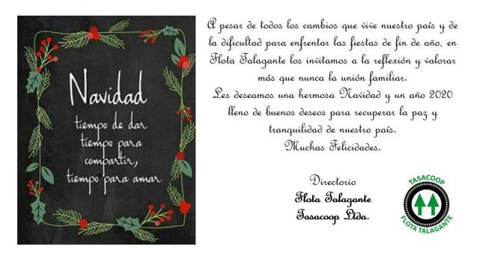 Tarjeta de Saludo Navidad